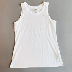 Nike women's Exercise Sport Dri-Fit Tank white XL